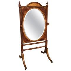 Mahogany Regency Period Cheval Dressing Mirror