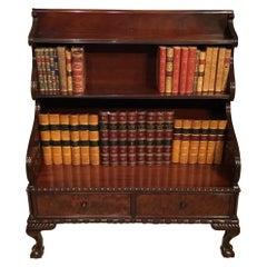 Mahogany Regency Period Waterfall Bookcase