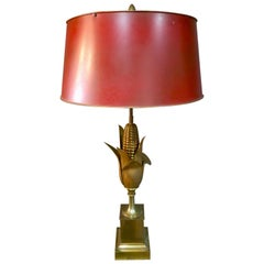 "Maison Charles Bronze ""Corn"" Table Lamp"