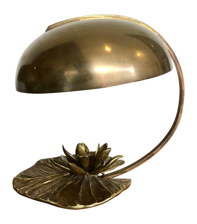 Maison Charles Nenuphar Bronze Lamp With Original Domed