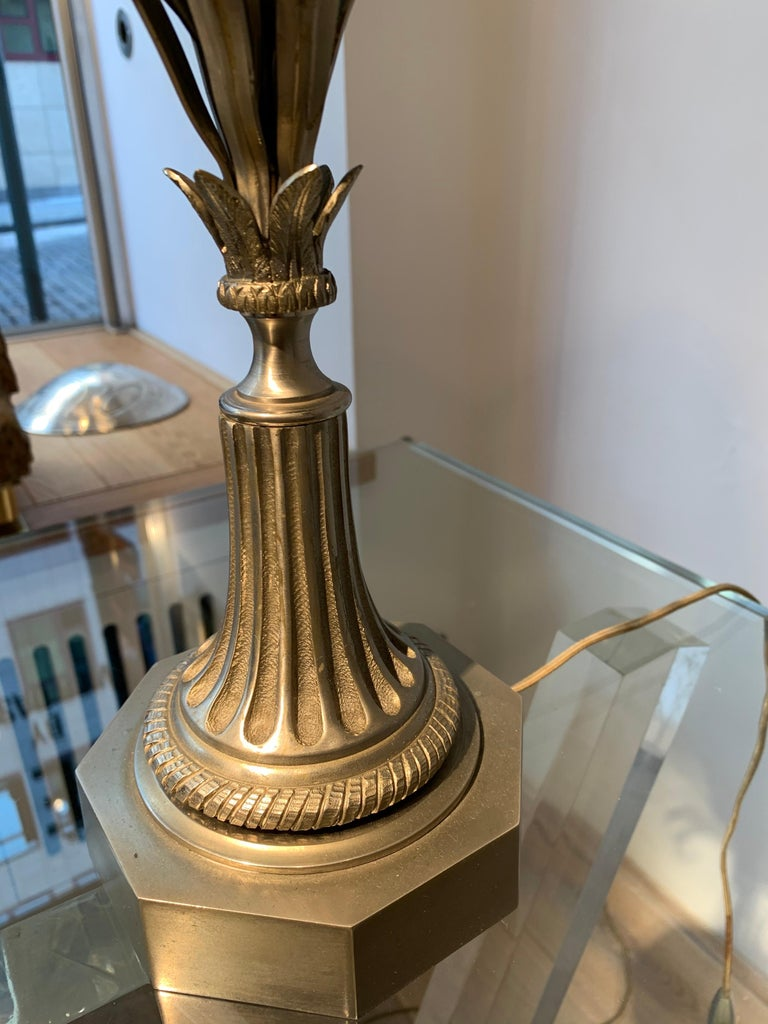 Maison Charles Silvered Bronze Lamp with Fractal Resin, circa 1960s-1970s For Sale 3