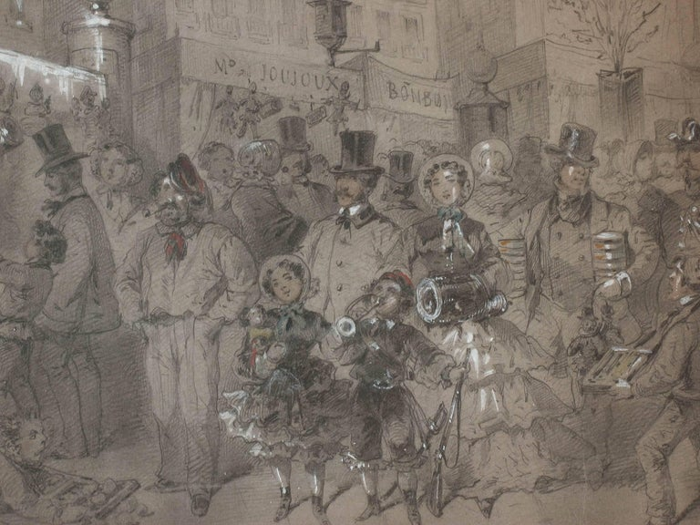 Directoire Market Scene in Paris by Egron Sillif Lundgren For Sale