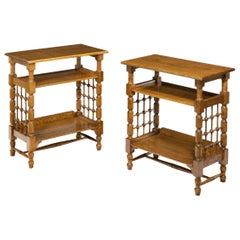 Matched Pair of Oak Side Tables Attributed to Liberty's