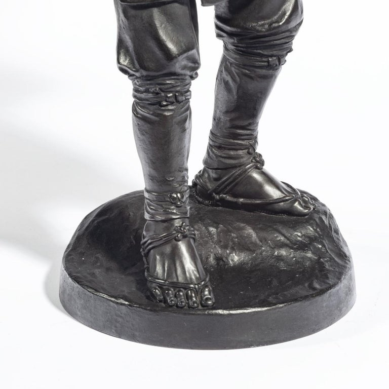 Meiji Period Bronze of a Cricket Catcher For Sale 1