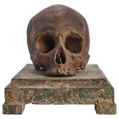 Memento Mori Skull, Italy, 1870