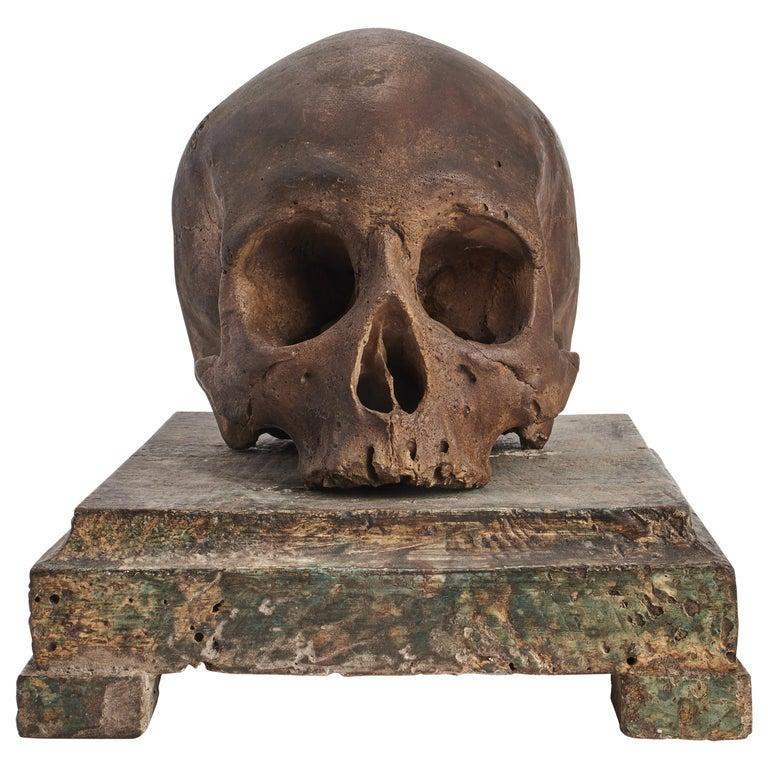 Memento Mori Skull, Italy, 1870 For Sale