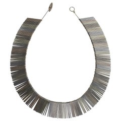 A. Michelsen, Scandinavian Modern Necklace, Three Colored Sterling Silver