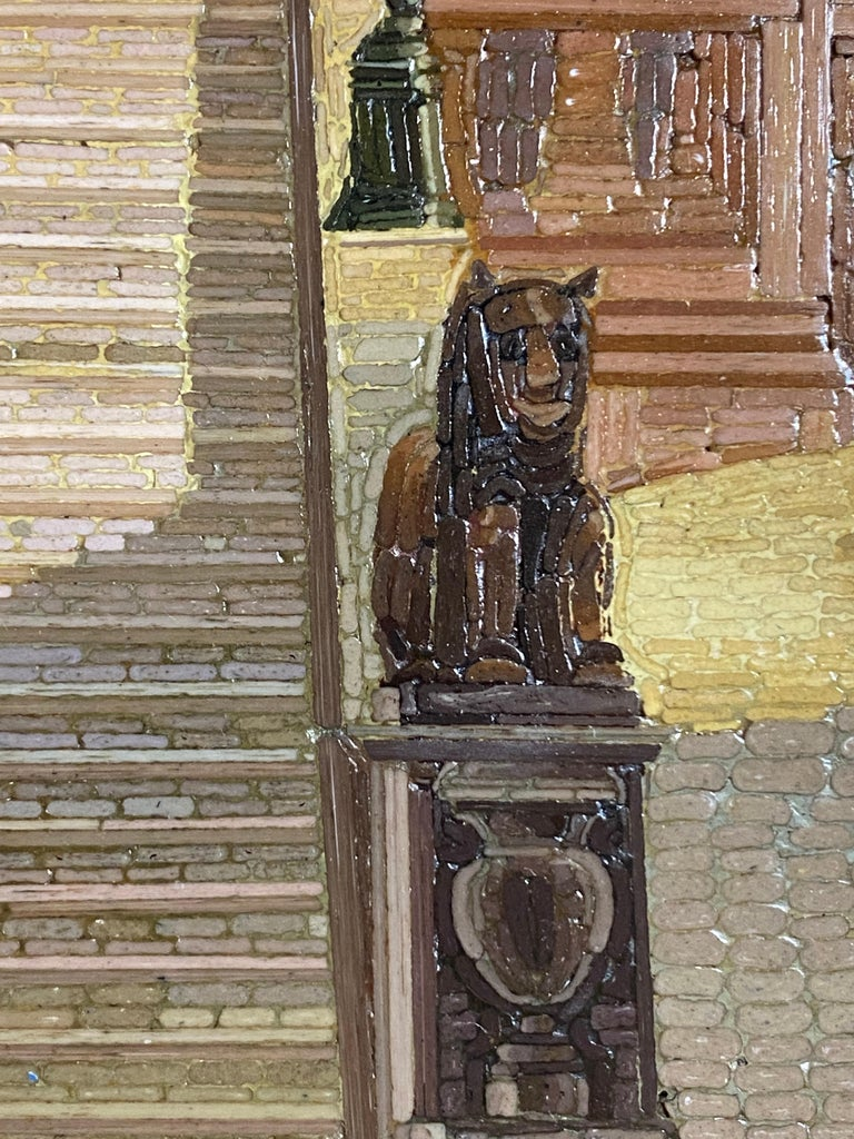 Micromosaic Picture, Mid-19th Century View of the Campidoglio In Good Condition For Sale In Palm Beach, FL