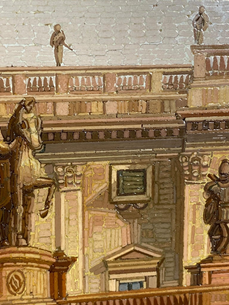 Micromosaic Picture, Mid-19th Century View of the Campidoglio For Sale 2