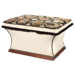Mid-19th Century Mahogany, Needlepoint and Upholstered Ottoman