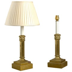 Mid-19th Century Pair of Gilt Brass Table Lamps
