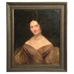Mid 19th Century Portrait of a Fine American Lady