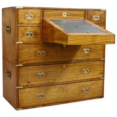 Mid-19th Century Small Camphor Wood Military or Campaign Chest, circa 1845