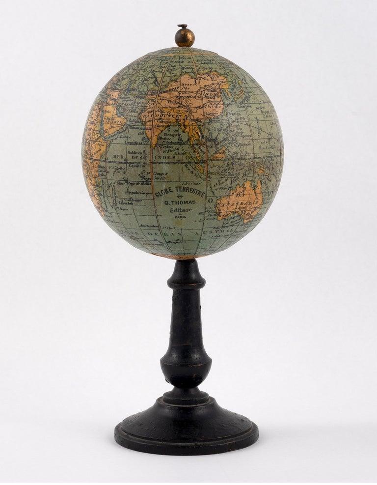 Napoleon III Mid-19th Century Thomas Terrestrial Small Globe For Sale