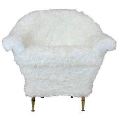 Midcentury Chair in Fur