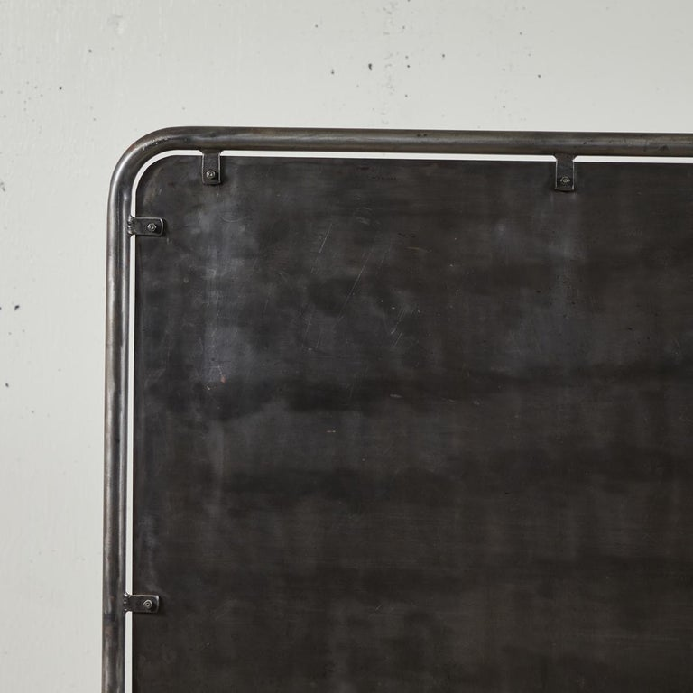 French Midcentury Industrial Metal Screen For Sale