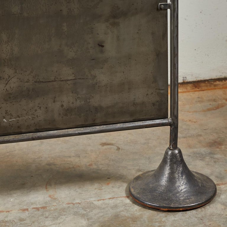 Midcentury Industrial Metal Screen In Good Condition For Sale In Los Angeles, CA
