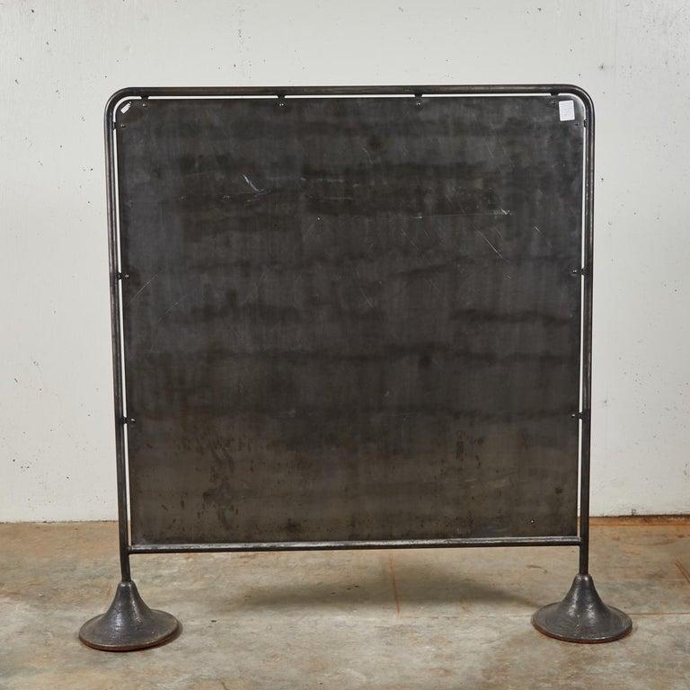 Midcentury Industrial Metal Screen For Sale 1