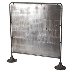Midcentury Industrial Metal Screen