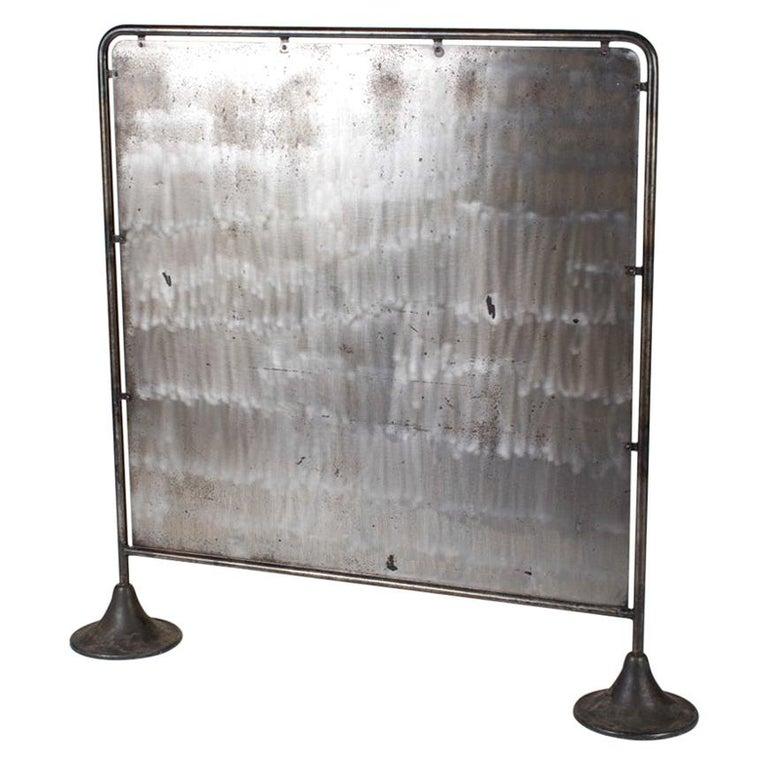 Midcentury Industrial Metal Screen For Sale