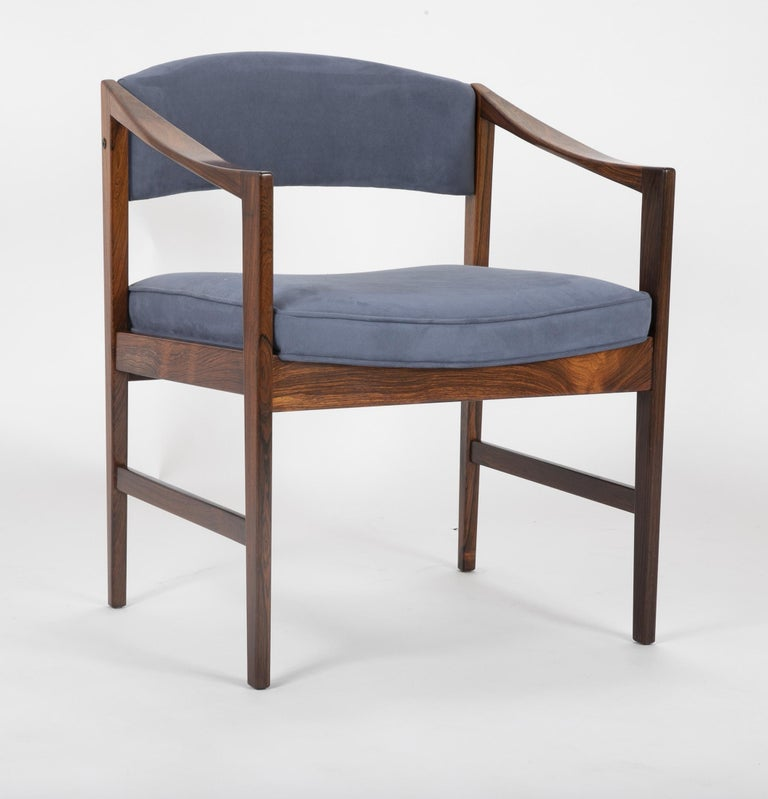 A solid rosewood, Danish desk chair.