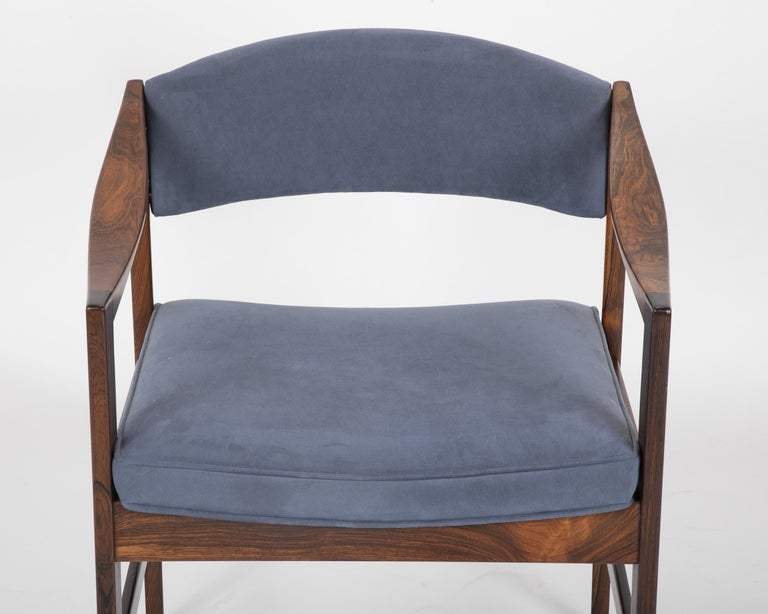 Late 20th Century Mid-Century Modern Danish Rosewood Desk Chair For Sale