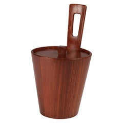 Mid-Century Modern Teak Italian Arni Form Ice Bucket