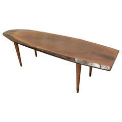Mid Century Slice of Fruitwood Coffee Table