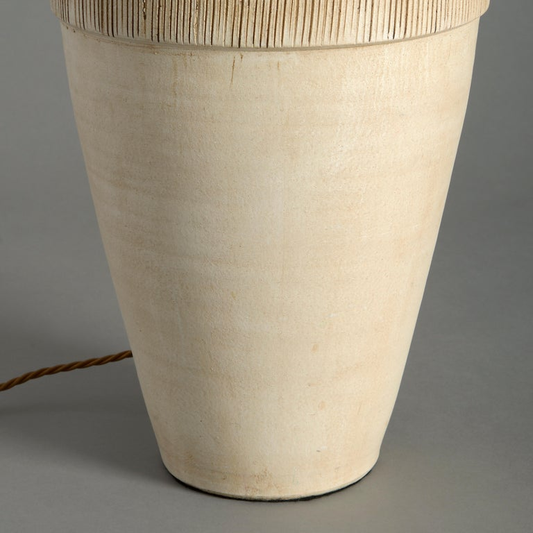 English Midcentury Studio Pottery Vase as a Lamp