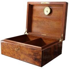 Midcentury Tiffany & Co. Burr Walnut Cigar Box