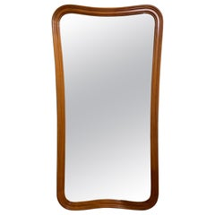 Midcentury Undulating Form Mirror