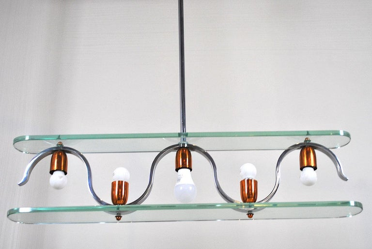 Midcentury Italian Chandelier in at the Style of Gio Ponti for Fontana Arte 5