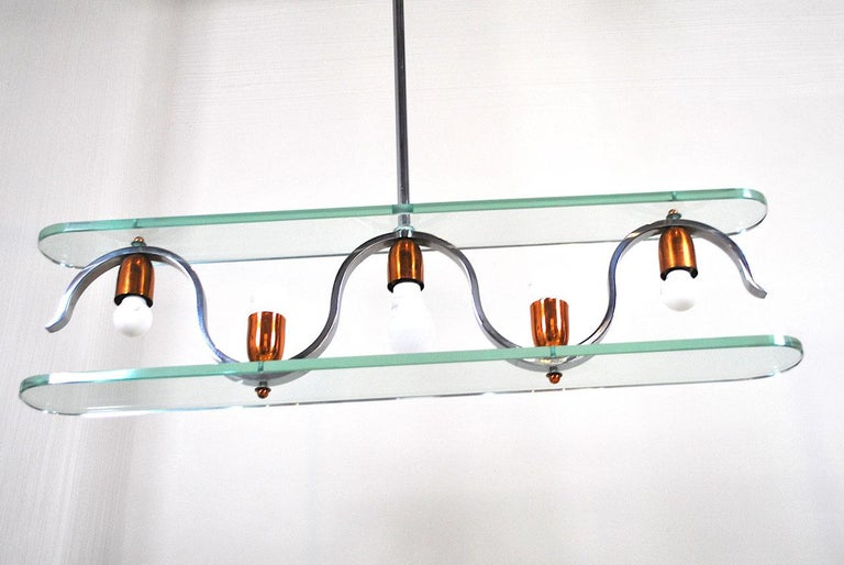 Midcentury Italian Chandelier in at the Style of Gio Ponti for Fontana Arte 6