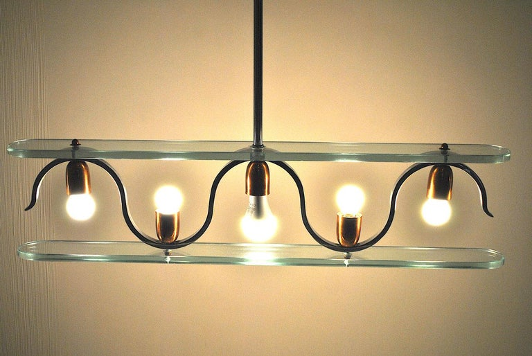 Midcentury Italian Chandelier in at the Style of Gio Ponti for Fontana Arte 8