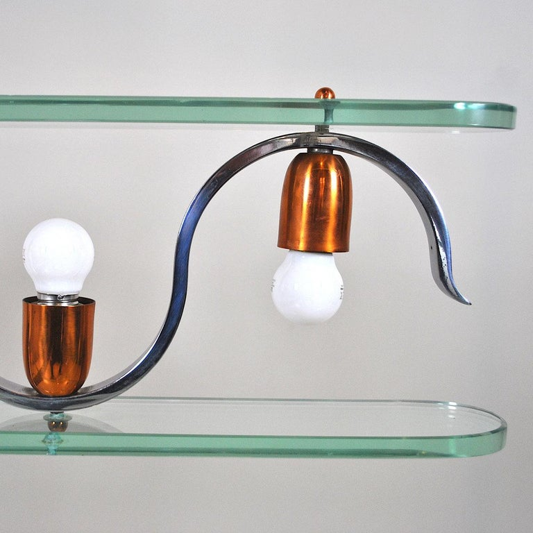 Midcentury Italian Chandelier in at the Style of Gio Ponti for Fontana Arte 2