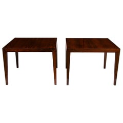 Midcentury Severin Hansen Pair of Danish Rosewood Side Tables or Coffee Tables