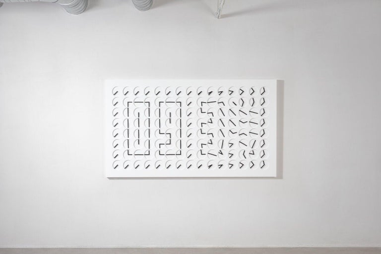 Swedish A Million Times 120 White Wall Clock Wall Sculpture by Humans, since 1982 For Sale