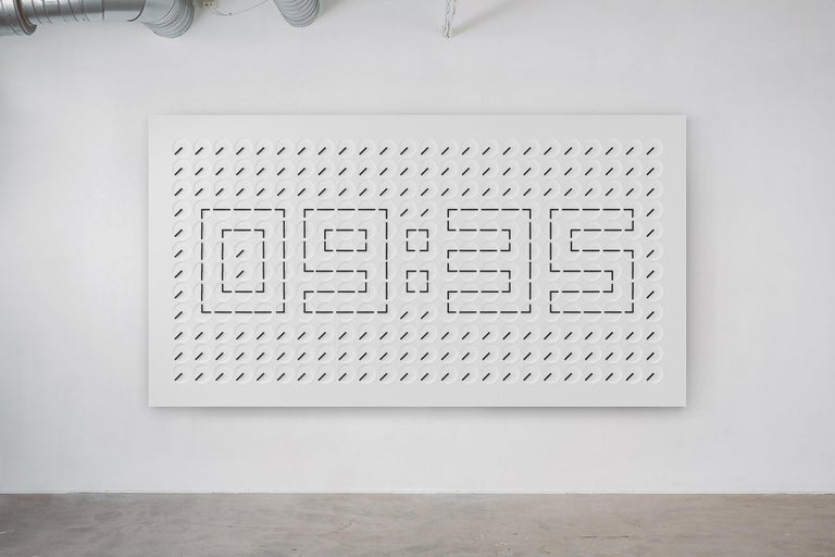 Perhaps Humans Since 1982s most well-known work, A Million Times is both a Kinetic sculpture and a functioning clock. Developed from their design of The Clock (2008), its hands veer from unpredictable, mechanical spinning, to perfect, synchronized