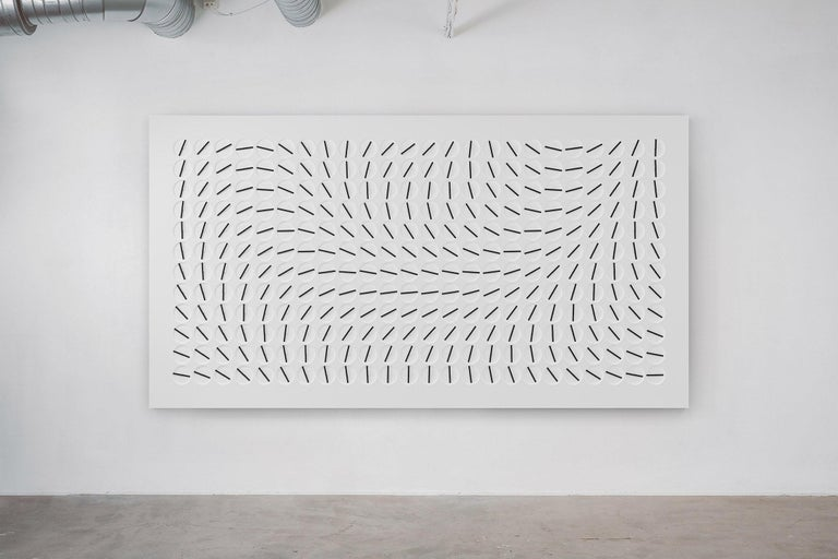 Swedish A Million Times 288 'Ten' White Wall Clock Wall Sculpture by Humans Since 1982 For Sale