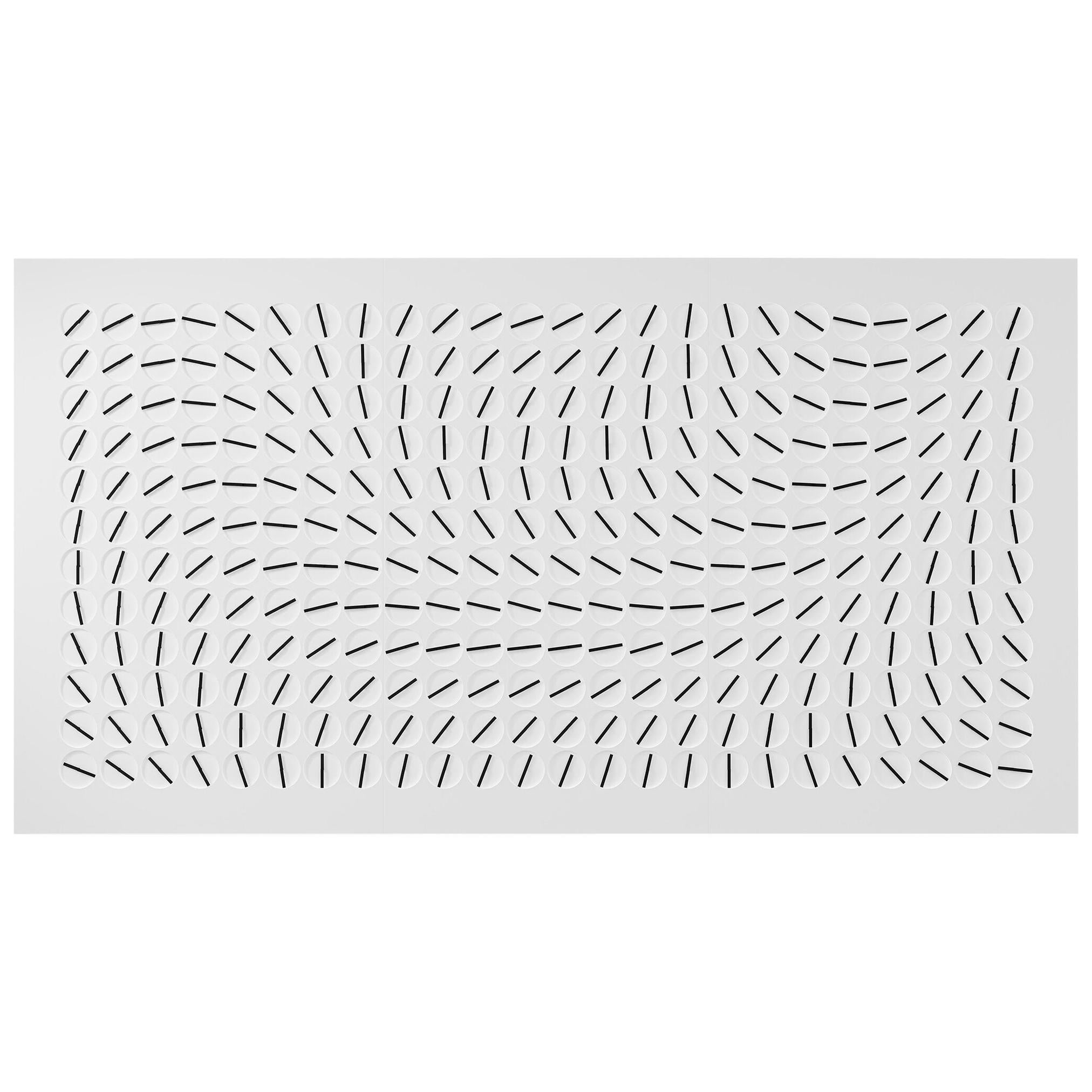 A Million Times 288 'Ten' White Wall Clock Wall Sculpture by Humans Since 1982