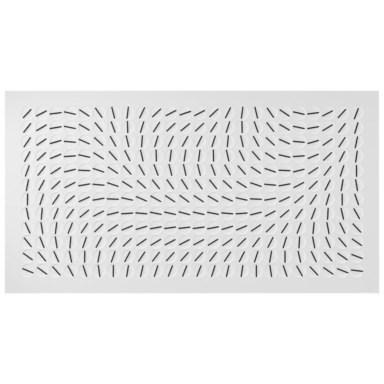 A Million Times 288 'Ten' White Wall Clock Wall Sculpture by Humans Since 1982 For Sale
