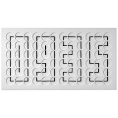 A Million Times 72 White Wall Clock Wall Sculpture by Humans, since 1982