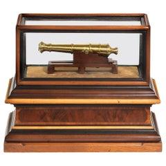 Miniature Brass Cannon in a Presentation Case