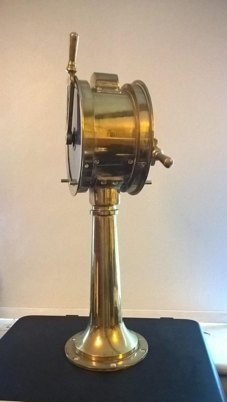 Miniature Brass Ships Telegraph, circa 1920 For Sale 5