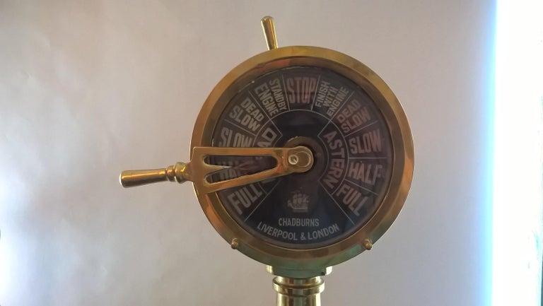 English Miniature Brass Ships Telegraph, circa 1920 For Sale