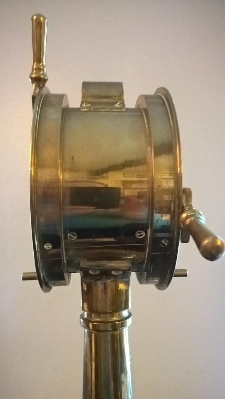 Miniature Brass Ships Telegraph, circa 1920 For Sale 3