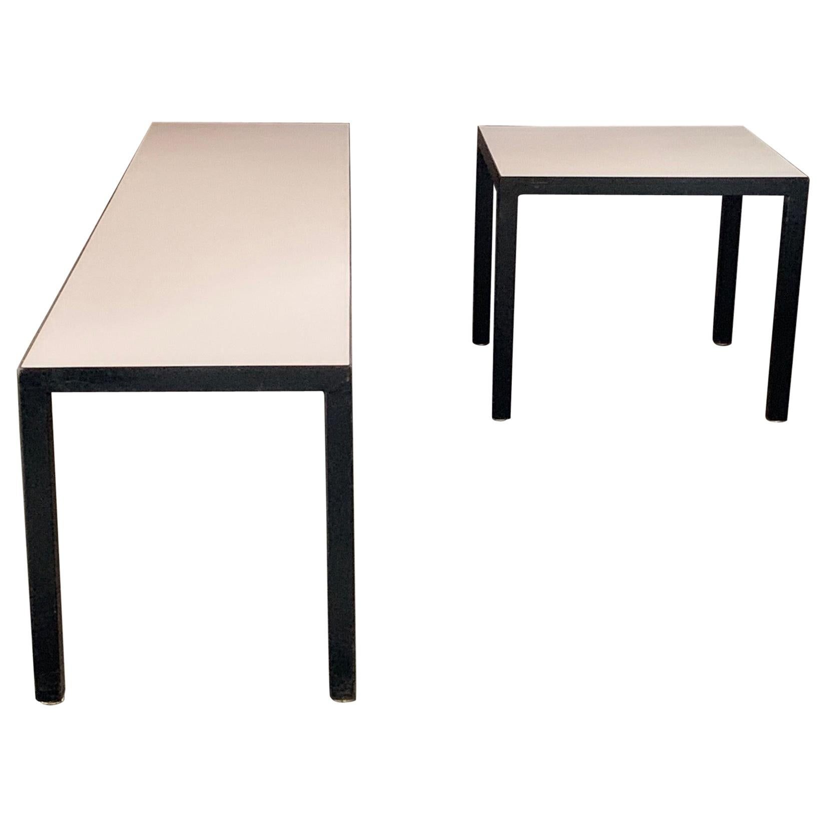 Minimalist Bench and Matching Table by JG Furniture