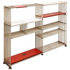 Minimalist Free-Standing Wire Bookshelf by Tjerk Reijenga for Pilastro