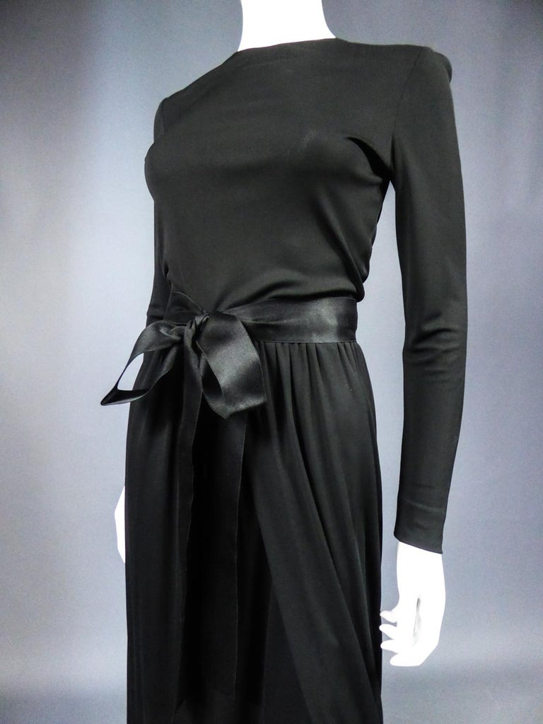 Women's A Miss Dior Evening Dress by Philippe Guibourgé Circa 1970 For Sale