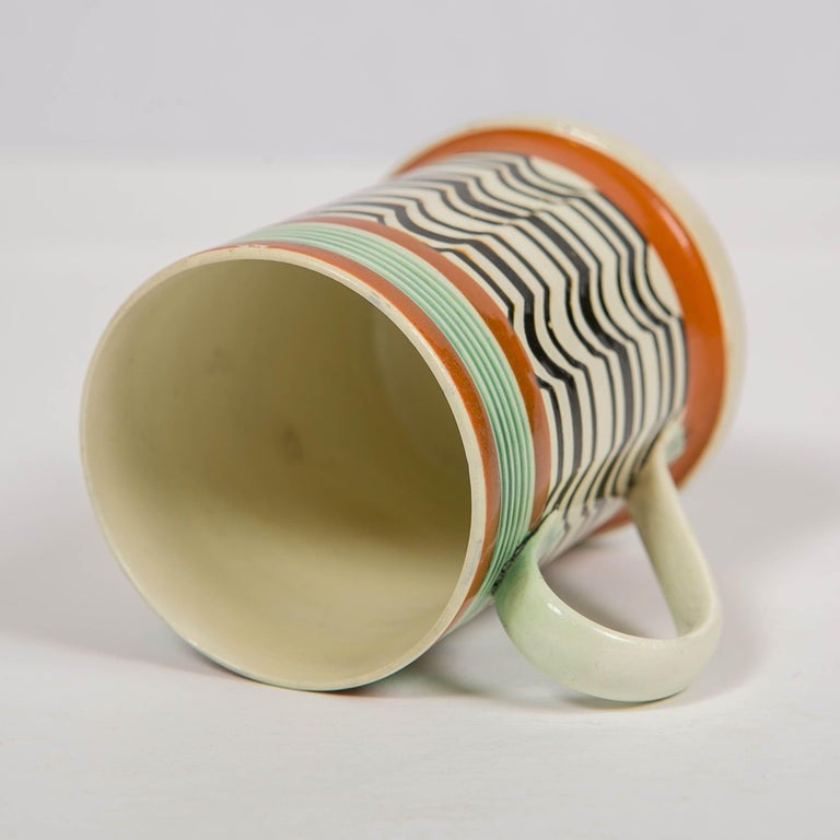 Mochaware Mug Made by J.& R Clews at the Cobridge Factory, England, circa 1820 For Sale 3